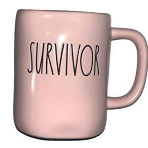 NWT Rae Dunn SURVIVOR Pink Mug